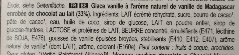 Magnum Batonnet Glace Classic x6 330ml - Ingrédients - fr