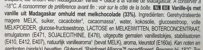 Magnum Glace Bâtonnet Mini Classic x6 - Ingrediënten - nl