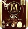 Magnum Batonnet Glace Mini Classic Amande Chocolat Blanc x 6 330 ml - Produit