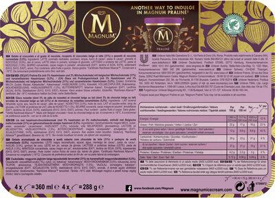 Magnum Praliné Noisette - Ingrediënten - nl