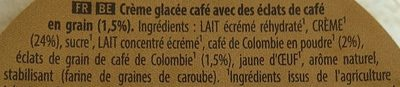 Carte D'or Glace Café Torréfié de Colombie 450ml - Ingredients - fr