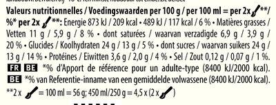 Glace Bio Vanille Douce de Sava - Nutrition facts - fr