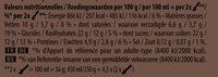 Carte D'or Glace Cacao Corsé du Pérou 450ml - Informations nutritionnelles - fr
