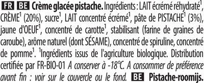 Carte D'or Glace Pistache Grillées de Méditerranée 450ml - Ingredienti - fr
