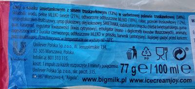 Lody o smaku śmietankowym z sosem truskawkowym - Składniki - pl