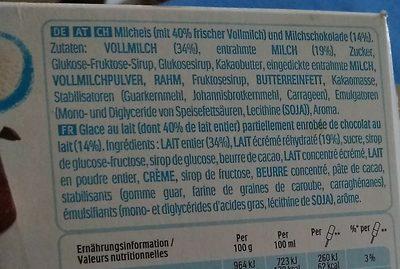 Kinder Ice Cream Stick - Ingrédients