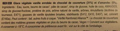 Magnum Vegan Almond - Ingrédients - fr