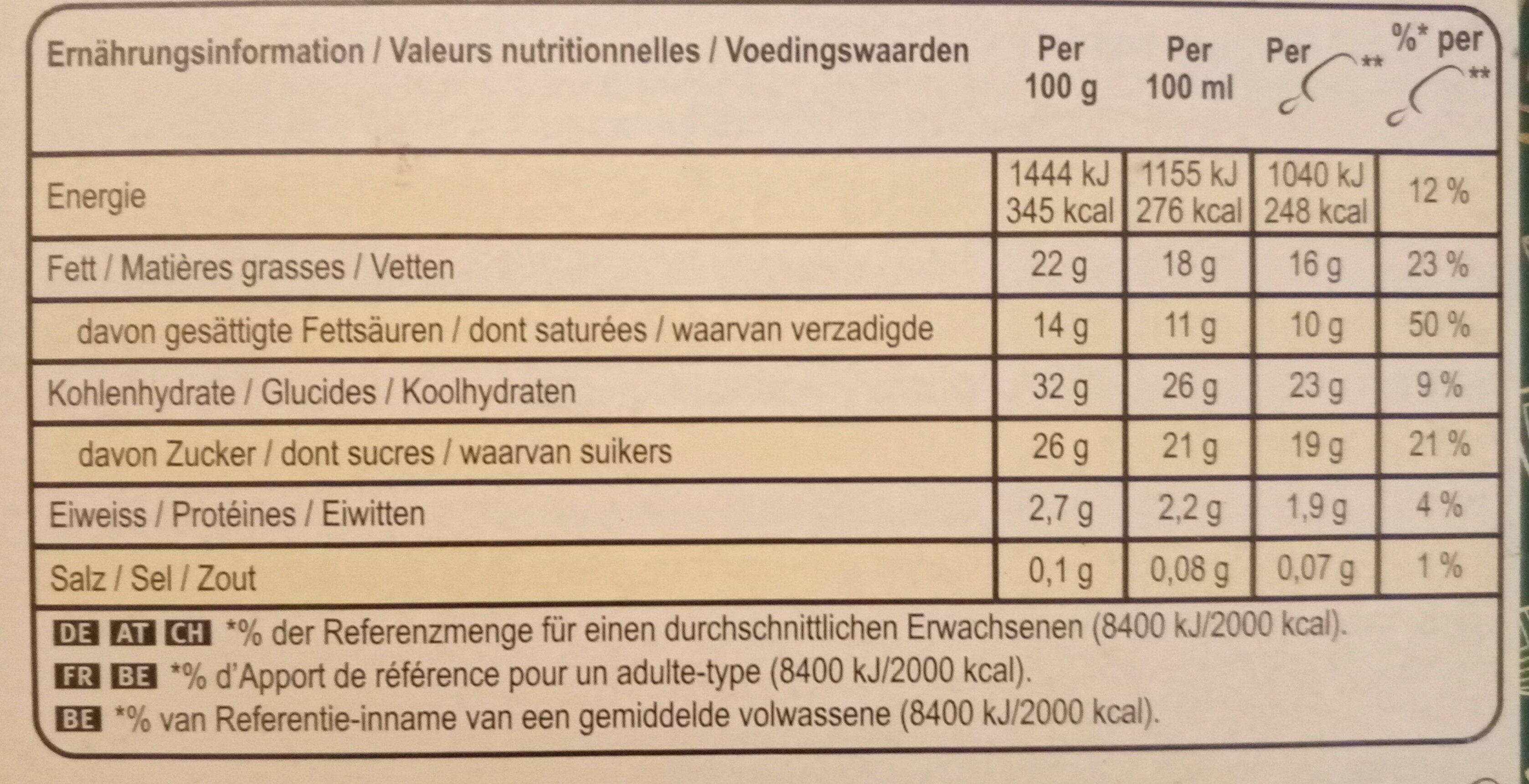 Magnum Vegan Almond - Informations nutritionnelles - fr