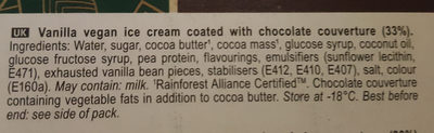 Magnum Classic Vegan - Ingredients