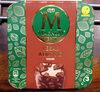 Vanillespeiseeis auf pflanzlicher Basis und Schokoladenkuvertüre (31%) mit Mandeln (5%). Schokoladenkuvertüre enthält neben Kakaobutter auch andere pflanzliche Fette. - Produkt