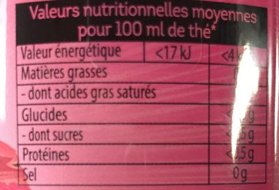 Irresistible Lady Lipton - Informations nutritionnelles - fr