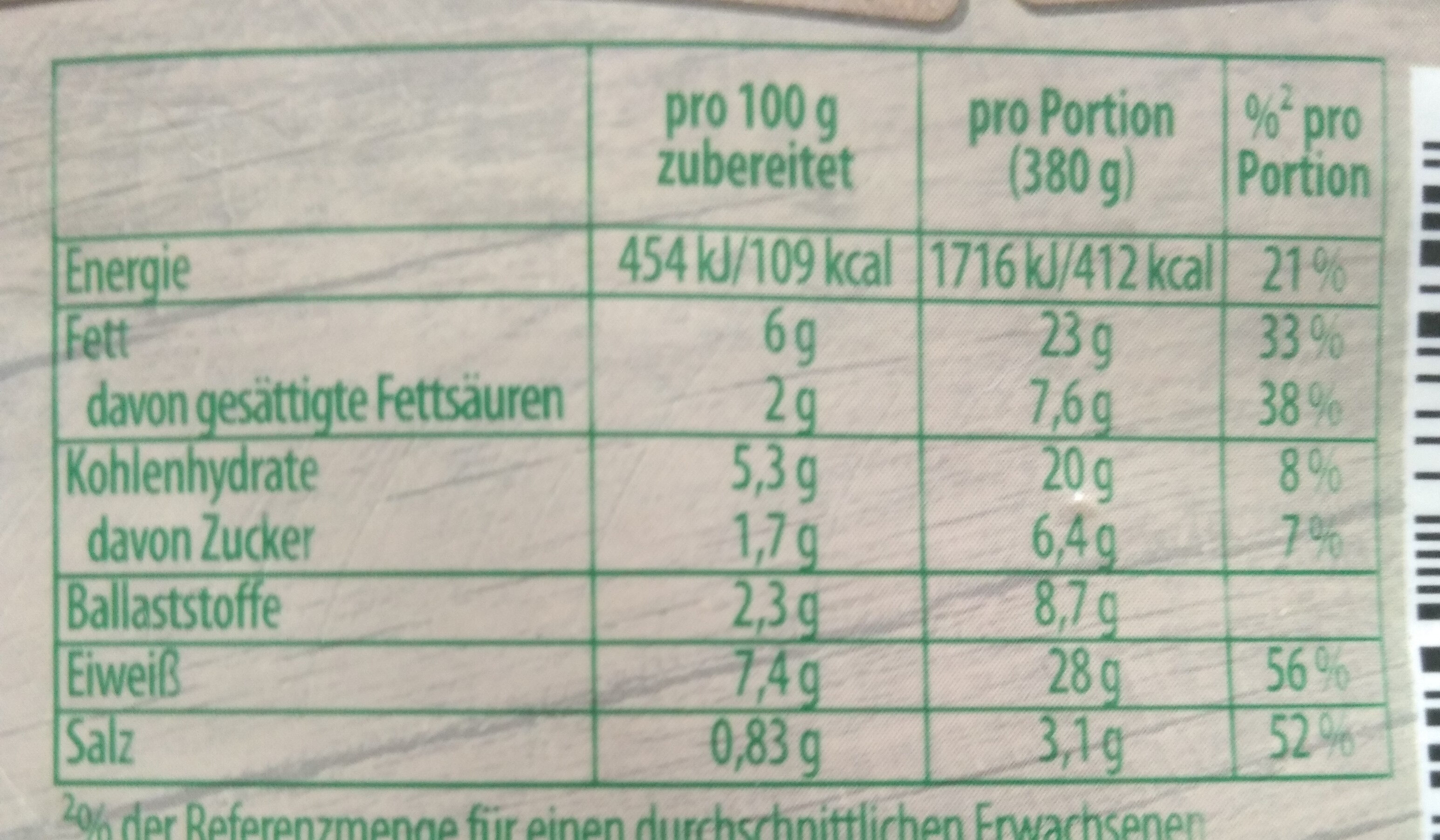 Knorr Fix Chili con Carne - Voedigswaarden