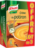 Knorr soupe crème de potiron 100g lot de 3 - Produit