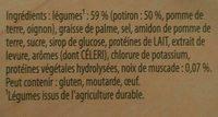 Knorr soupe crème de potiron 100g lot de 3 - Ingrédients