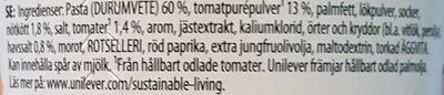 Snack Pot Bolognese - Ingrédients - sv