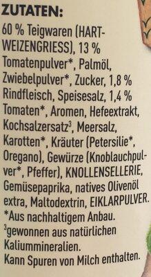 Knorr Pasta Snack Bolognese - Ingrediënten