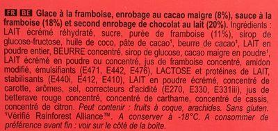 Magnum Glace Batonnet Mini Double Framboise 6x60ml - Ingredientes - fr