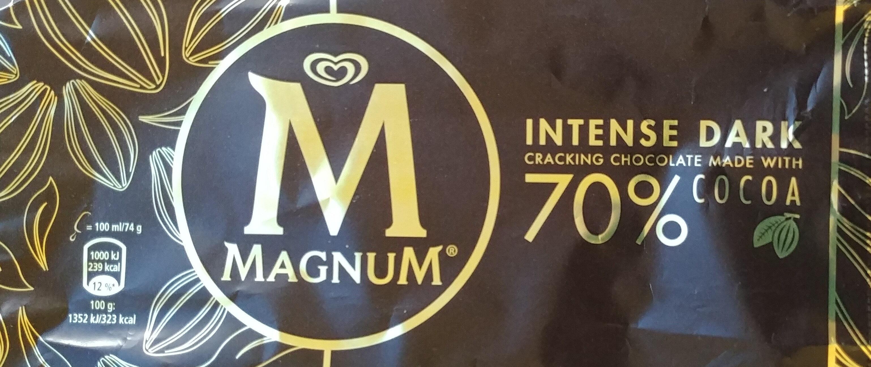Lody czekoladowe (3% mlecznej czekolady) w polewie (30%) z gorzkiej czekolady - Produkt - pl