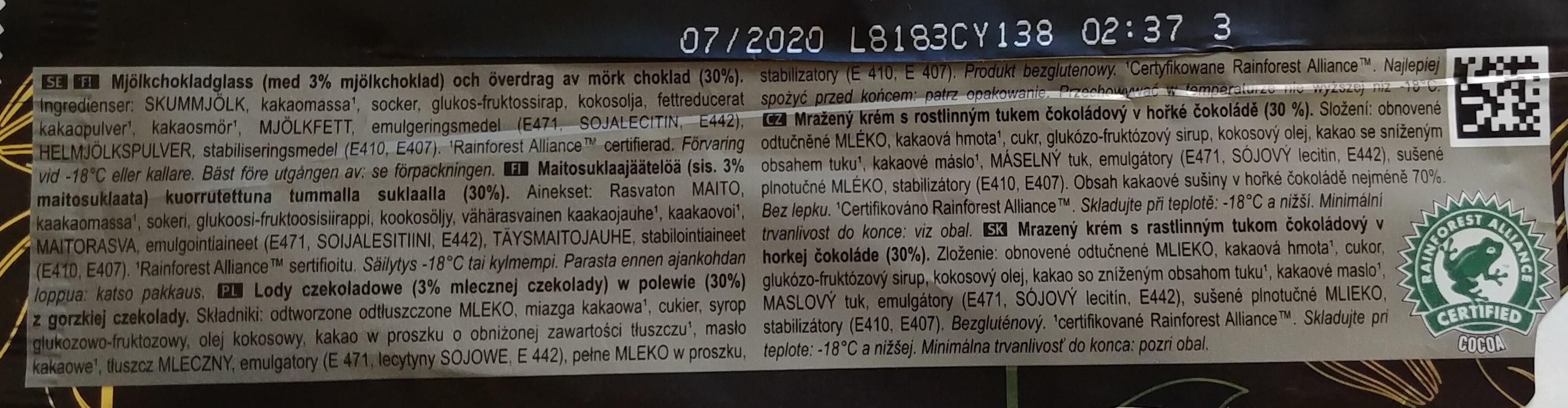 Magnum 70% - Składniki - pl