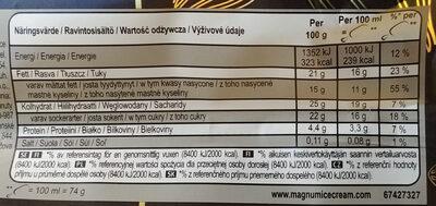 Lody czekoladowe (3% mlecznej czekolady) w polewie (30%) z gorzkiej czekolady - Wartości odżywcze - pl