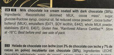 Intense dark - Ingredients