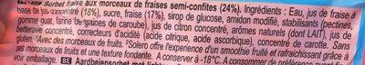 Solero Strawberry Smoothie - Ingredients