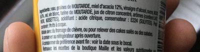 Moutarde Miel d'acacia et noix - Ingrédients - fr