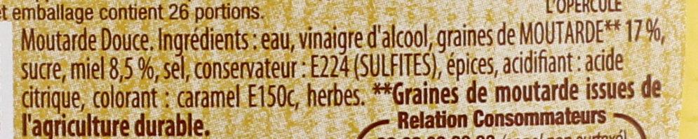 Amora Moutarde Douce & Miel Flacon Souple - Ingredienti - fr