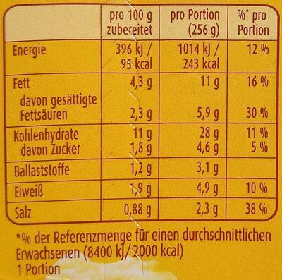 Kartoffel Snack mit Röstzwiebeln & Croûtons - Nährwertangaben - de