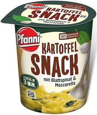 Kartoffelsnack mit Blattspinat & Mozarella - Produkt - de