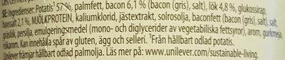 Bacon & Onion Potato Snack Pot - Ingrédients - sv