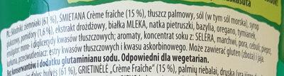 Danie Pure, Śmietana z ziołami - Składniki - pl