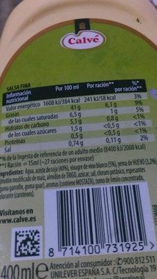 Mayonesa casera - Producto