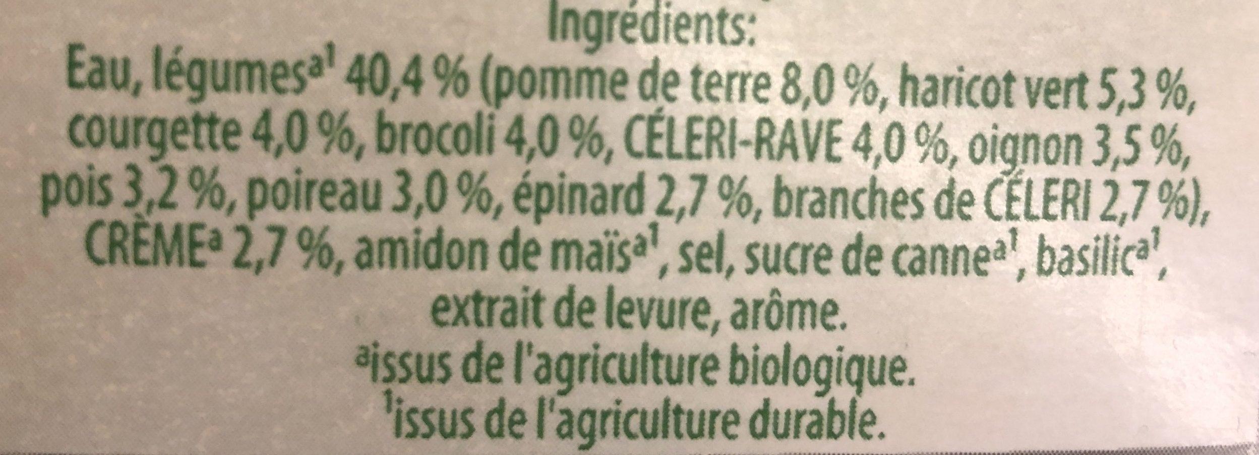Légumes verts Bio - Ingrediënten
