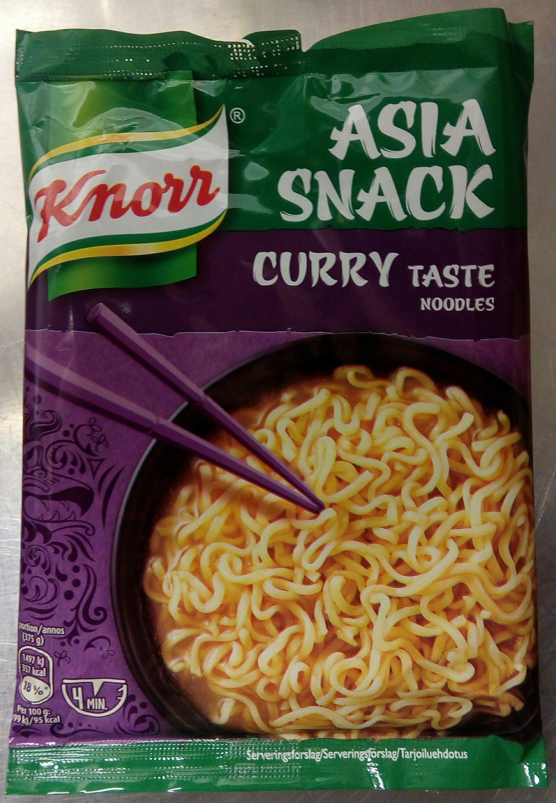 Knorr Asia Snack Curry Taste Noodles - Produit - sv