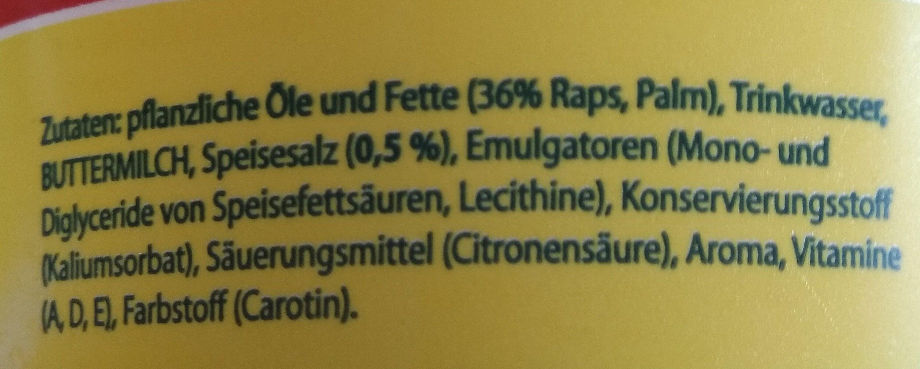 Margarine - Ingrediënten