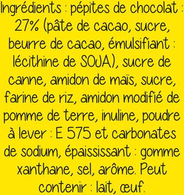 Préparation Cookies Pépites Chocolat - Ingredients - fr