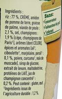 Knorr Plat Déshydraté Riz Pot' Risotto Champignons - Ingrédients - fr