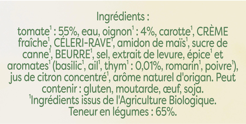 Knorr Mouliné Bio de Tomates Oignons et Pointe d'Herbes 1L - Ingredients - fr