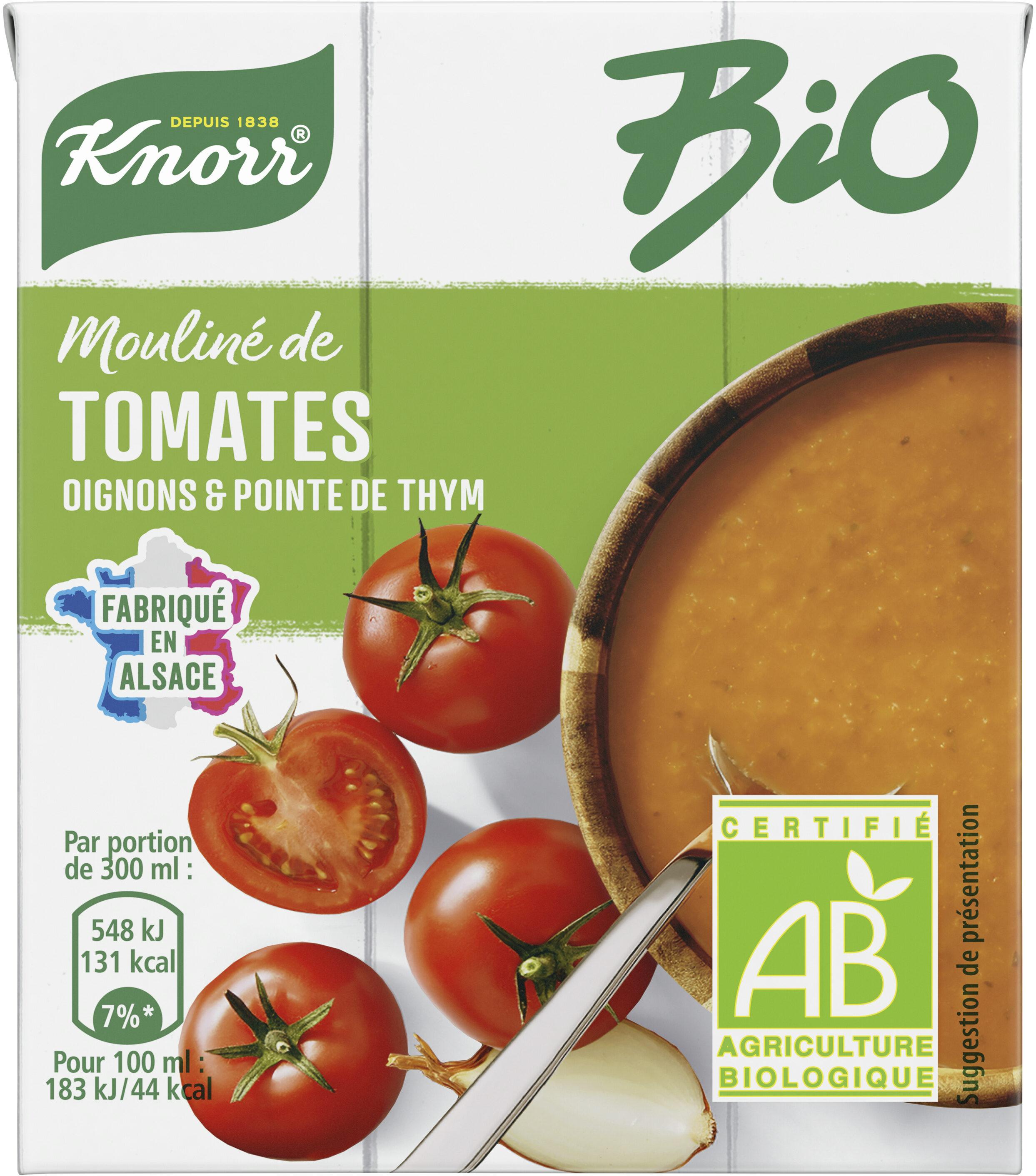 Knorr Soupe Liquide Bio Tomates Oignons et Pointe d'Herbes Sachets 30cl - Product - fr