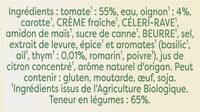 Knorr Soupe Liquide Bio Tomates Oignons et Pointe d'Herbes Sachets 30cl - Ingredients - fr