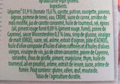 Légumes bbq pointe de Chili - Ingrediënten