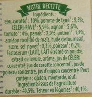 Velouté de 9 légumes - Ingredients