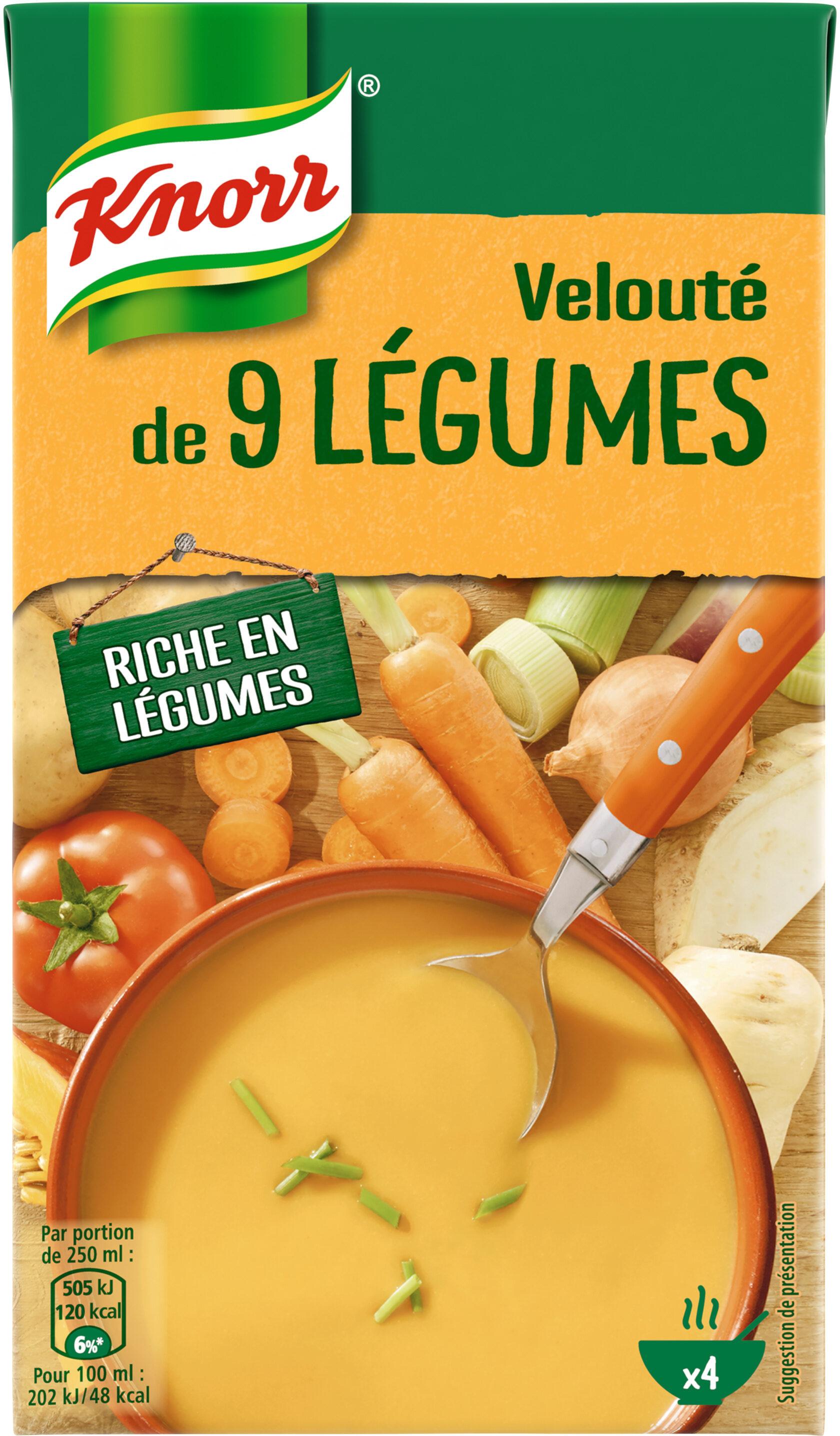 Knorr Soupe Liquide Velouté de 9 Légumes Brique 1L - Producto - fr