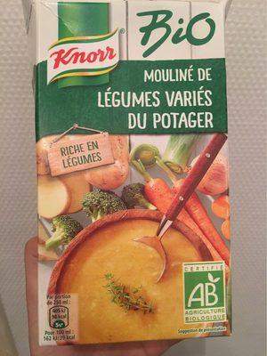 calorie Mouliné de légumes variés du potager