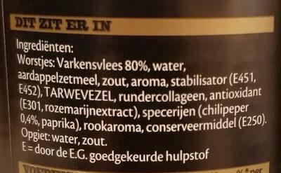 pittige knaks - Ingredients - nl