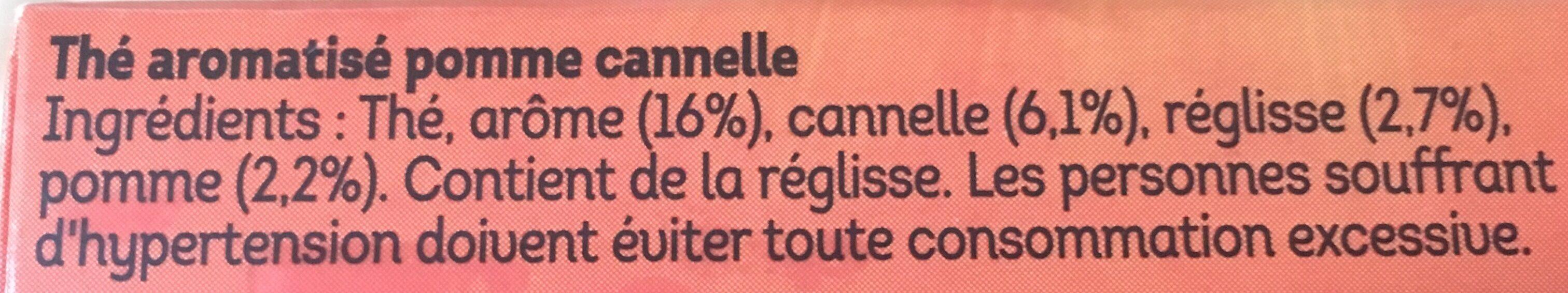Lipton Thé Noir Pomme Cannelle 20 Sachets 36g - Ingredienti - fr