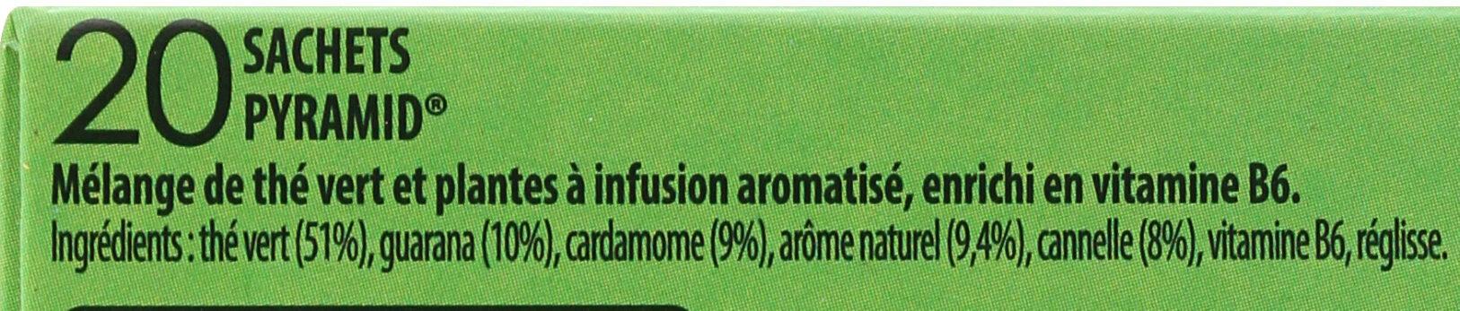 Lipton Thé Vert Boost 20 Sachets - Ingredients - fr