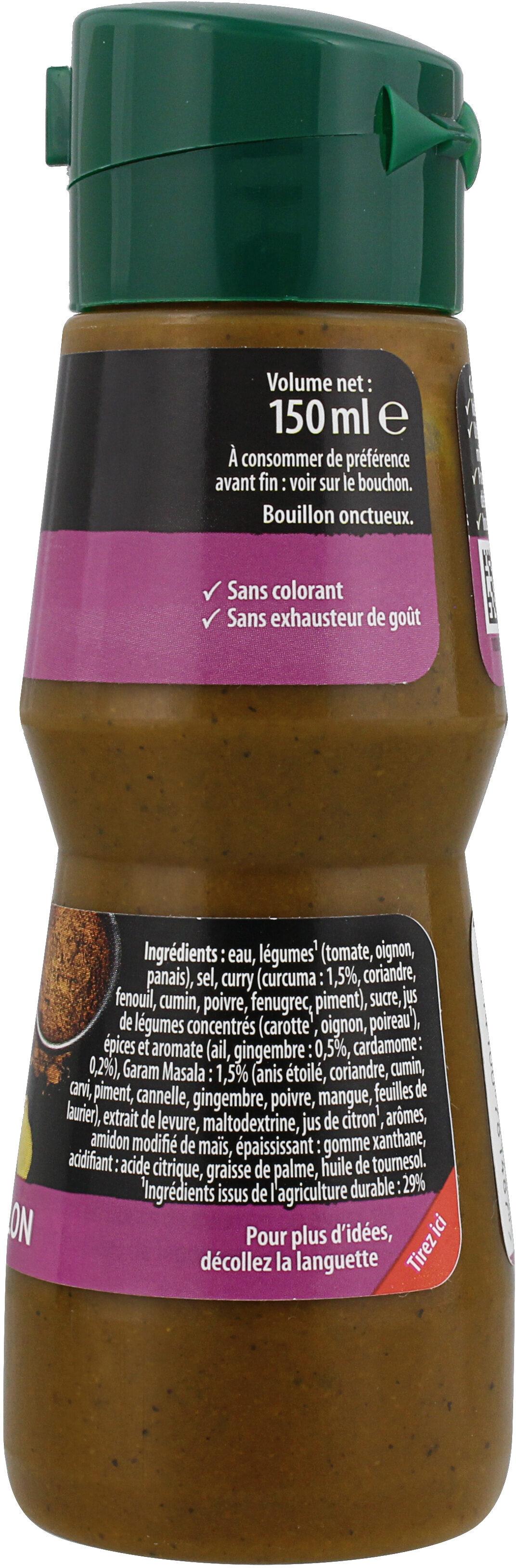 Knorr Goutte de Bouillon Assaisonnement Liquide Saveur Indien 150 ml - Ingrediënten