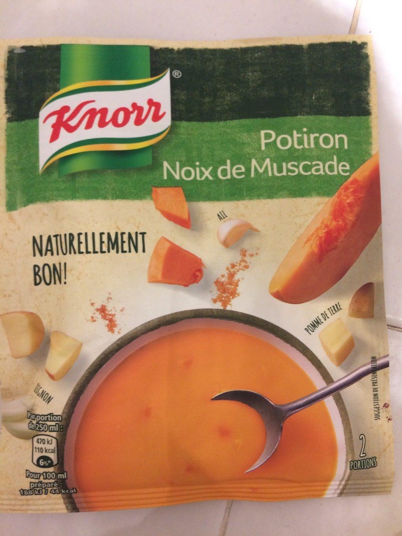 Potiron noix de muscade knorr - Noix de muscade cuisine ...